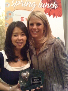 Cheryl Nakamoto and Sarah McNeill receiving Big Heart Award