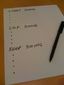 start doing...